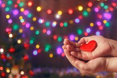 Do good things. Create well deeds. Charity and miracle. Christmas and New year mood. Festive background. To make people happy. Xmas miracle. Charitable royalty free stock images