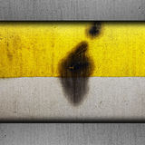 Do grunge amarelo da textura da pintura do fundo metal velho Fotos de Stock Royalty Free