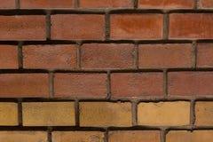 Do grunge marrom retangular da base do bloco da parede de tijolo fundo urbano da Web do close-up da base do projeto imagem de stock