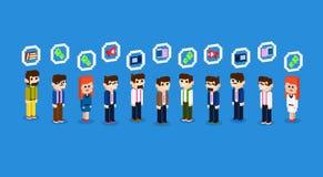 Do grupo da multidão executivos da coleção ajustada 3d do ícone isométrica Fotografia de Stock Royalty Free