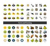 Do grupo de ícones no estilo diferente - versões isométricas do plano e do otline, colorido e as pretas ilustração royalty free