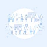 Do grupo executivos da reunião de Team Businesspeople Teamwork Conference Brainstorming ilustração royalty free