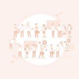 Do grupo executivos da reunião de Team Businesspeople Teamwork Conference Brainstorming ilustração stock