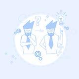 Do grupo executivos do conceito de Team Brainstorm Success Teamwork Cooperation ilustração royalty free