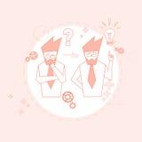Do grupo executivos do conceito de Team Brainstorm Success Teamwork Cooperation ilustração do vetor