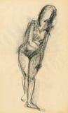 Do gymnastics, figure 10 Royalty Free Stock Image
