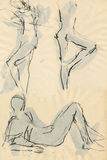 Do gymnastics, figures 11 Stock Images