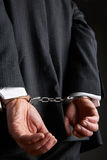Do homem de negócios de With Hands Cuffed parte traseira atrás imagens de stock