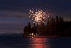 ô do indicador dos fogos-de-artifício de julho Imagem de Stock