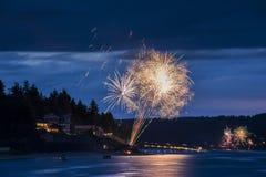 ô do indicador dos fogos-de-artifício de julho Foto de Stock Royalty Free