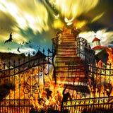 Do inferno ao céu imagem de stock