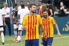 ` 2017 do Int l FC Barcelona do copo de campeões contra Juventus Fotografia de Stock