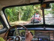 Do interior do carro à estrada Fotos de Stock Royalty Free