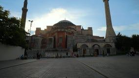 Do Islã famoso do marco da religião do curso da mesquita de Hagia Sophia construção turca vídeos de arquivo