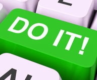 Do It Key Means Act Or Take Action Now Stock Photo