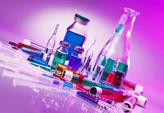 Do laboratório médico do equipamento vida de vidro ainda Foto de Stock