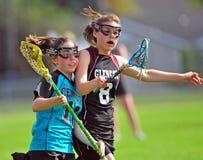 Do Lacrosse esporte de contato não Foto de Stock Royalty Free