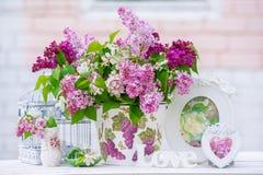 Do lilás vida ainda Imagem de Stock Royalty Free