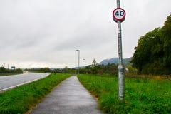 ` Do ` 40 do limite de velocidade Fotografia de Stock Royalty Free