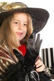 do małej dziewczynie przygotowaną partyjnej herbatę Zdjęcia Royalty Free