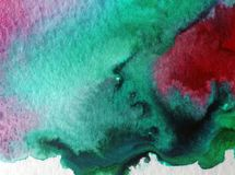 Do mapa bonito da baía da costa de mar do fundo do sumário da arte da aquarela a lavagem molhada textured moderna borrou a fantas Fotos de Stock Royalty Free