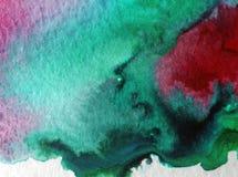 Do mapa bonito da baía da costa de mar do fundo do sumário da arte da aquarela a lavagem molhada textured moderna borrou a fantas Imagem de Stock Royalty Free