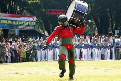 Do marching band by Indonesian Air Force cadets. Stock Image