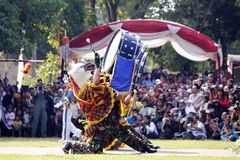 Do marching band by Indonesian Air Force cadets. Royalty Free Stock Images