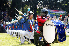 Do marching band by Indonesian Air Force cadets. Stock Images