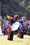 Do marching band by Indonesian Air Force cadets. Royalty Free Stock Photography