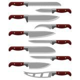 Do metal afiado de aço do punhal da arma da faca de cozinha ilustração metálica perigosa militar do vetor da espada ilustração do vetor