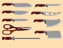 Do metal afiado de aço do punhal da arma da faca de cozinha ilustração metálica perigosa militar do vetor da espada ilustração royalty free