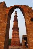 2do minar más alto de Qutb Minar de Delhi Imágenes de archivo libres de regalías