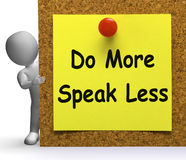 Do More Speak Less Note Means Be Productive Or Constructive Royalty Free Stock Photography