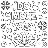 Coloring page. Vector illustration. Do more yoga. Coloring page. Vector illustration Royalty Free Stock Photo