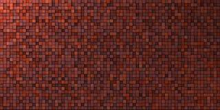 Do mosaico da parede vermelho sujo dentro profundamente - Foto de Stock Royalty Free