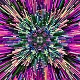 Do mosaico psicadélico simétrico do fundo da cor do sumário da ilustração do computador a escova caótica afaga escovas de pintura ilustração royalty free