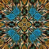 Do mosaico psicadélico simétrico do fundo da cor do sumário da ilustração do computador a escova caótica afaga escovas de pintura ilustração stock