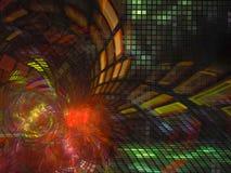 Do movimento digital abstrato do conceito do fractal do Fractal a tecnologia abstrata futurista torna digital, disco, negócio, pr Imagem de Stock Royalty Free
