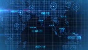 Do mundo incorporado dos dados do negócio laço conservado em estoque financeiro do fundo dos dados ilustração royalty free