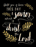 Do my dziecko jest Urodzony ten dzień wybawiciel, Chrystus władyka Zdjęcie Stock