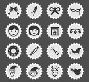 Do Natal ícones simplesmente Imagens de Stock