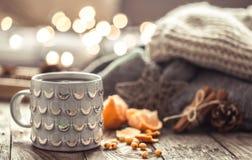 Do Natal de chá do copo uma vida acolhedor ainda Imagens de Stock
