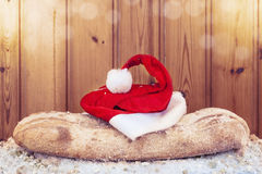 Do Natal decoração da vida ainda no fundo de madeira Imagens de Stock Royalty Free