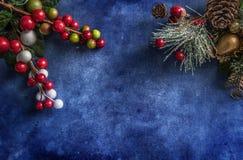 Do Natal fundo textured da vida ainda imagens de stock royalty free