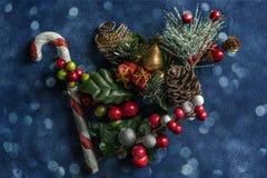 Do Natal fundo textured da vida ainda imagens de stock