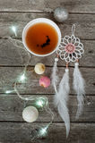 Do Natal vida ainda com chá, luzes Foto de Stock