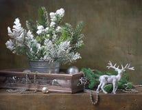 Do Natal vida ainda com decorações do Natal Imagem de Stock Royalty Free