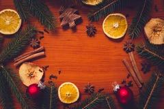 Do Natal vida ainda com fruto e especiarias Fotos de Stock