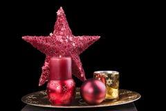 Do Natal vida ainda com velas fotos de stock